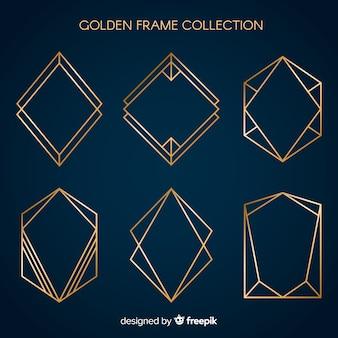 Золотая рамка с металлической текстурой