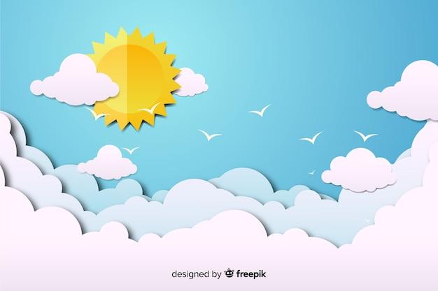 Фон голубого неба