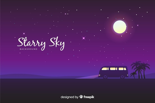 Ночное звездное небо фон
