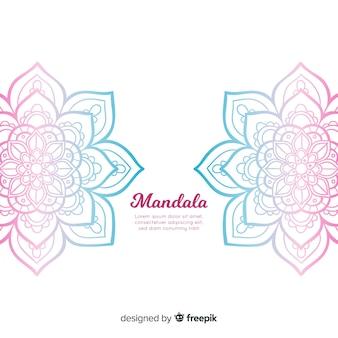 手描きのマンダラの背景
