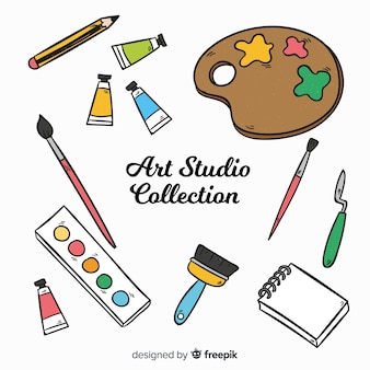 手描きアートスタジオの要素のコレクション