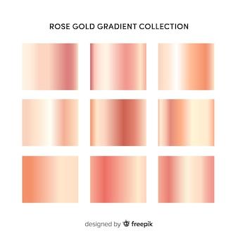 Коллекция градиента из розового золота