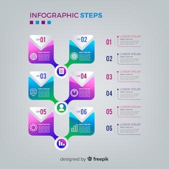 インフォグラフィックステップ