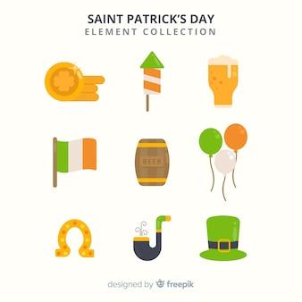 聖パトリックの日の要素のコレクション