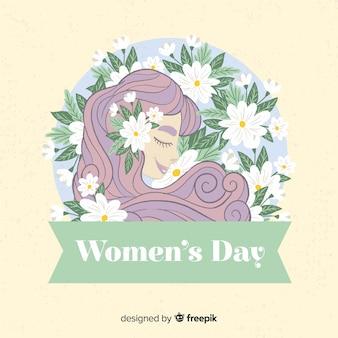 女性の日の背景。