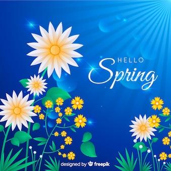 フラットヒナギク春の背景