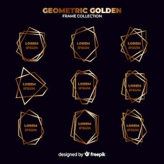 Коллекция геометрическая золотая рамка