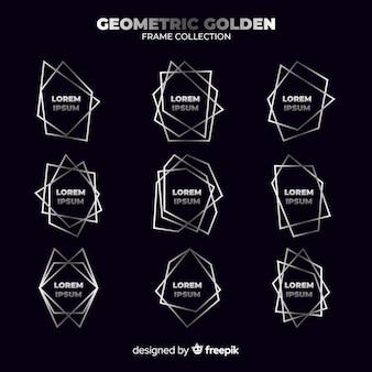幾何学的なシルバーフレーム