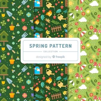 小さな春の要素パターン