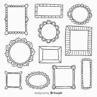 Набор рисованной рамки