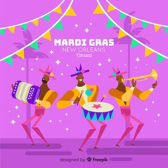 マルディグラのカーニバルの背景