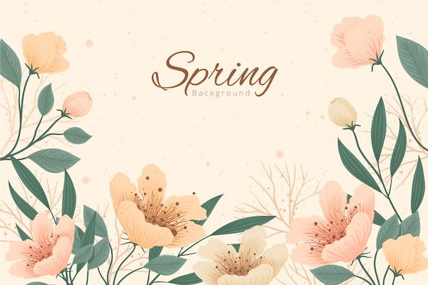 ビンテージ春の背景