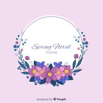 Цветочная рамка весенний фон