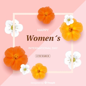 リアルな女性の日の背景