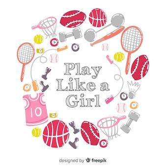 女の子のように遊ぶ