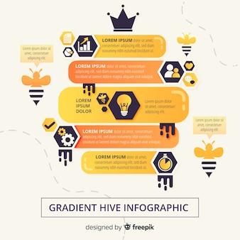 Градиент инфографики фон