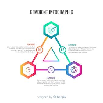 グラデーションピラミッドインフォグラフィックの背景