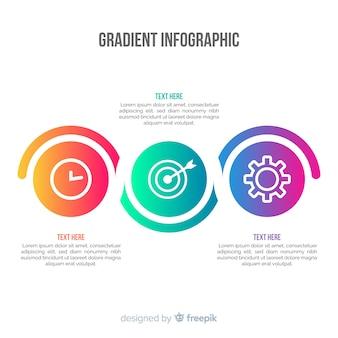 グラデーションインフォグラフィックの背景