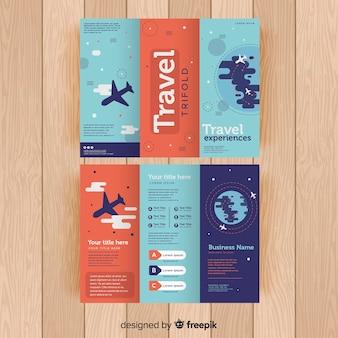 旅行三つ折りパンフレット