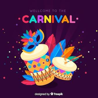 Плоский карнавальный фон