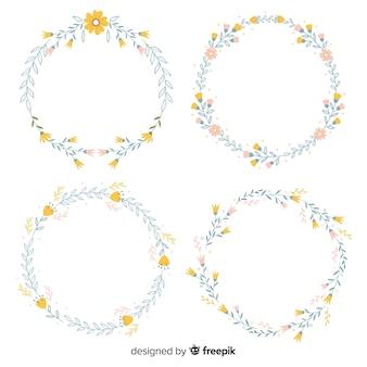 手描き春の花のフレーム