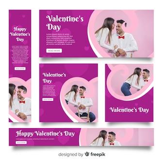 День святого валентина веб-баннеры