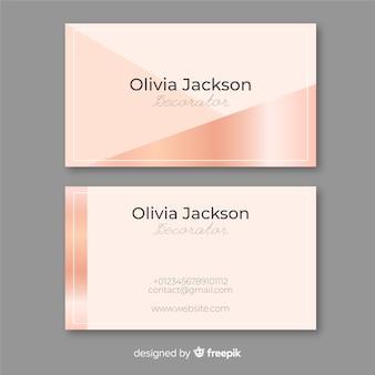 Визитная карточка из розового золота