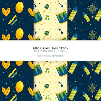 フラットブラジルカーニバルパターン