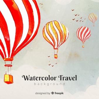 水彩旅行の背景