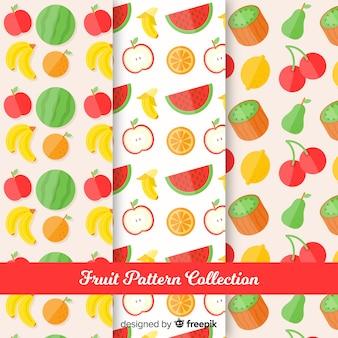 フラットフルーツパターンコレクション