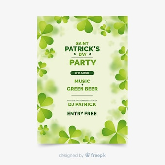 Шаблон вечеринки по случаю дня святого патрика