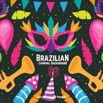 手描きのブラジルのカーニバルの背景
