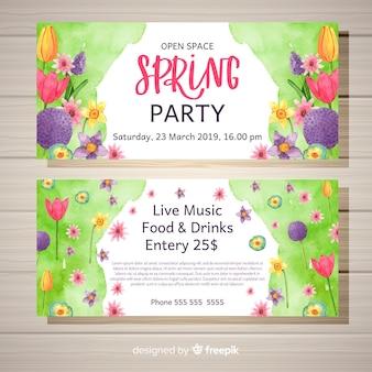 春のパーティーバナー