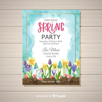 春のパーティーチラシ