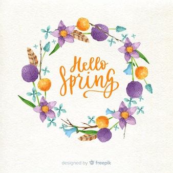 春の花のフレーム
