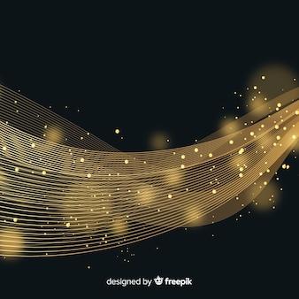 光沢のある金の波の背景