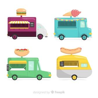 Коллекция продовольственных грузовиков