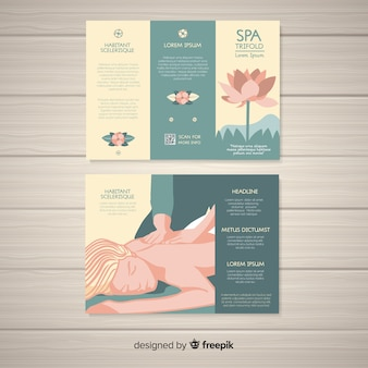 Спа тройной шаблон брошюры