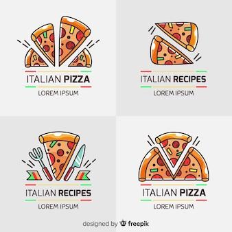 Коллекция пиццы с логотипом