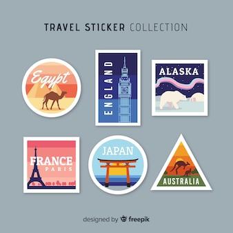 Коллекция стикеров для путешествий по городам