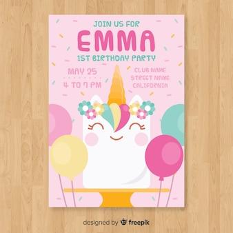 Первая открытка на день рождения