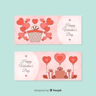 Баннеры на день святого валентина