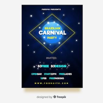 Шаблон флаера для бразильского карнавала