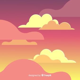 日の空の背景