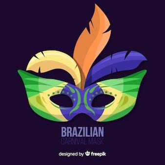 カラフルなマスクブラジルのカーニバルの背景