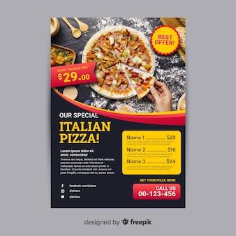 Шаблон флаера для пиццы