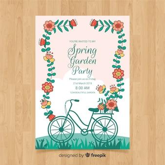 Листовка весенний сад вечеринка