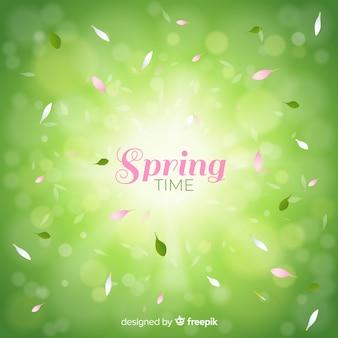 光沢のある春の背景