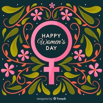 Цветочный символ женского дня фона