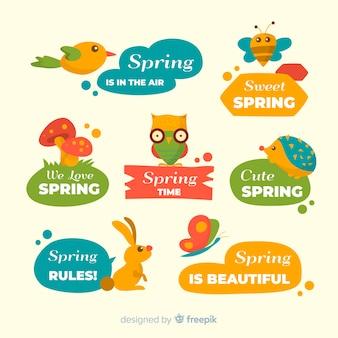 春のラベルコレクション